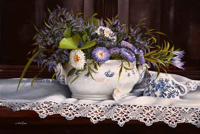 FLOWERS IN A SOUP TUREEN