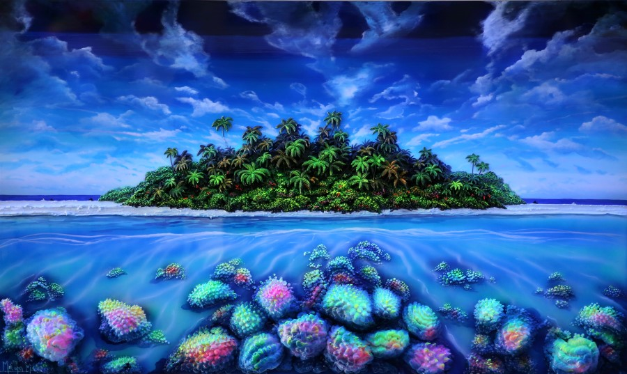 ISLAND WITH CORALS